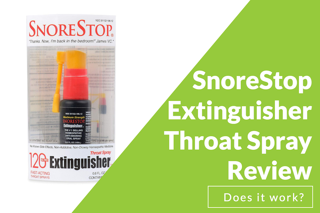 SnoreStop Extinguisher Throat Spray Review