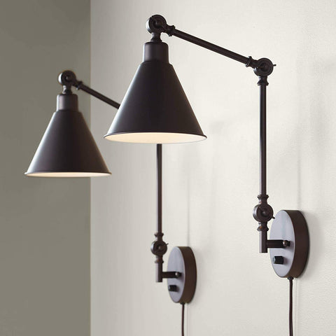 Wray Modern Industrial Up Down Swing Arm Wall Lights