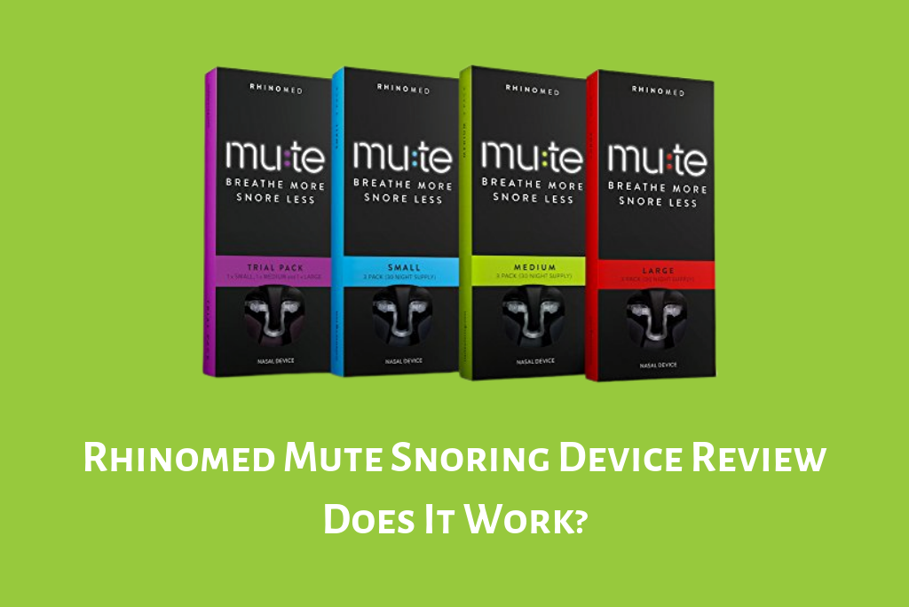Rhinomed Mute Snoring Device Review Smart Nora