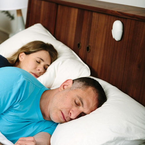 Place the pebble overhead to detect the earliest snoring