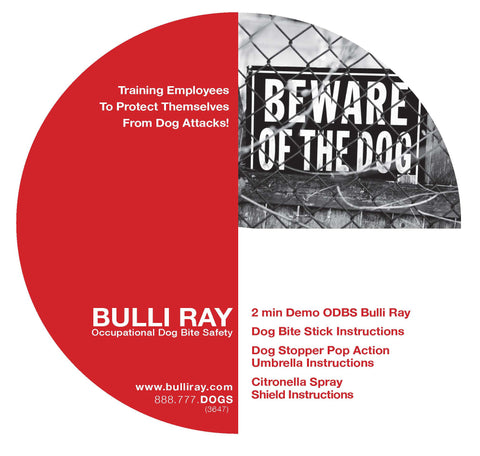 FREE Demonstration CD - Bulli Ray Occupational Dog Bite Safety
