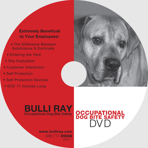 #112 Occupational Dog Bite Safety DVD