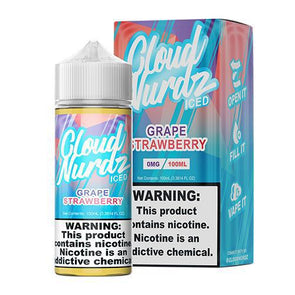 ICED Grape Strawberry - Cloud Nurdz - 100ml