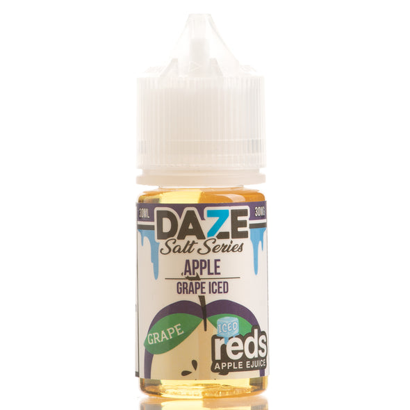 ICED GRAPE Reds Apple E-Juice - 7 Daze SALT - 30ml