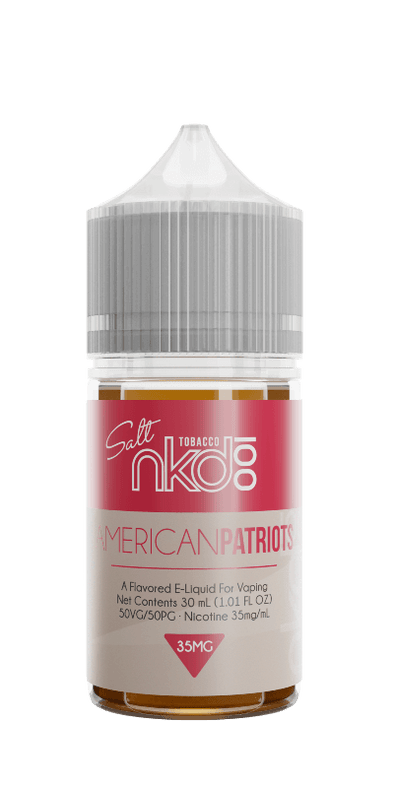 American Patriots - Nkd 100 Salt E-Liquid - 30ml