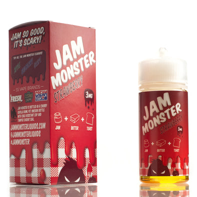Strawberry - Jam Monster E-Liquids - 100mL