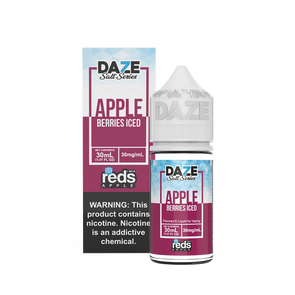 ICED BERRIES Reds Apple E-Juice - 7 Daze SALT - 30ml