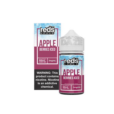 ICED BERRIES - Reds Apple E-Juice - 7 Daze - 60ml