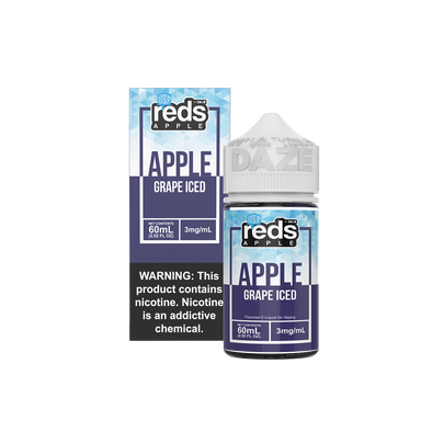 ICED GRAPE - Reds Apple E-Juice - 7 Daze - 60ml
