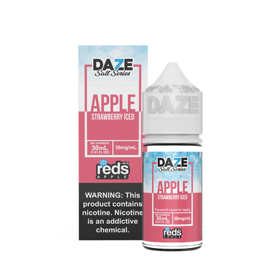 ICED STRAWBERRY - Reds Apple E-Juice - 7 Daze SALT - 30ml
