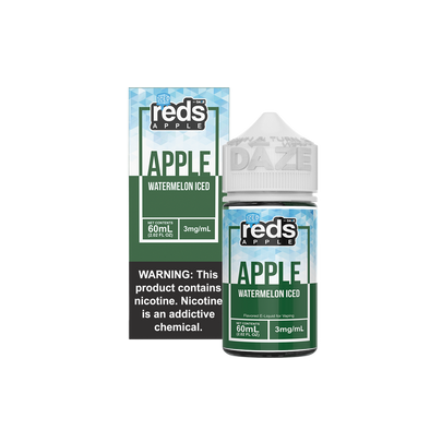 ICED WATERMELON - Reds Apple EJuice - 7 Daze - 60ml