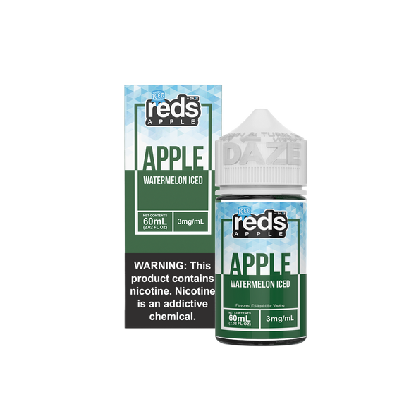 ICED WATERMELON Reds Apple EJuice - 7 Daze - 60ml