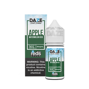 ICED WATERMELON Reds Apple E-Juice - 7 Daze SALT - 30ml