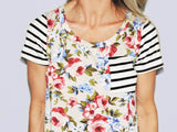 Floral & Stripes Top - Klutch Trends