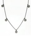 Circle Drop Necklace - Klutch Trends