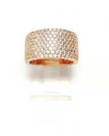 9 Row Crystal Ring - Klutch Trends