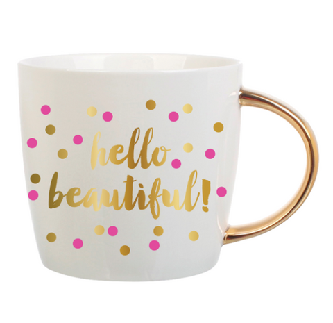 14oz Hello Beautiful Mug - Klutch Trends