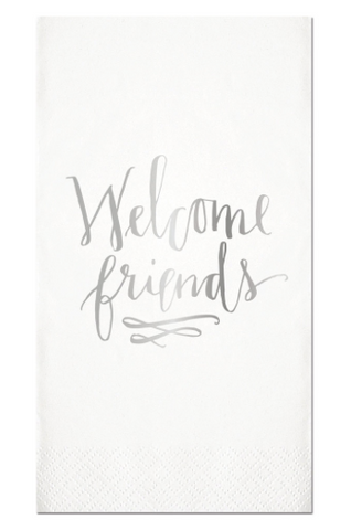 "Guest Towel - ""Welcome Friends"" - Klutch Trends"