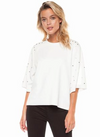 Ivory Stud Top - Klutch Trends