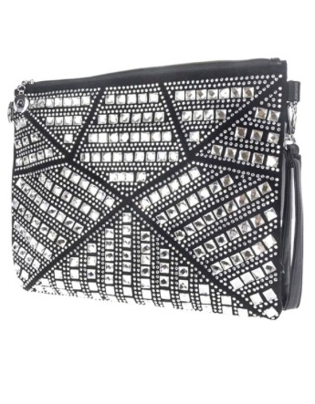 Rhinestones Clutch With Wrist Strap - Klutch Trends