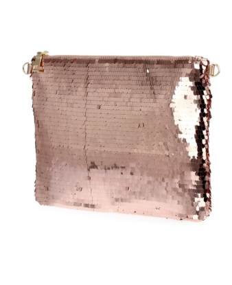 Rose Gold Sequin Clutch - Klutch Trends