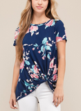 Floral Knot Top - Klutch Trends