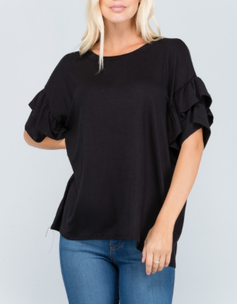 Ruffled Tunic - Klutch Trends