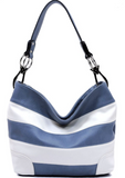 Striped Bucket Bag - Klutch Trends
