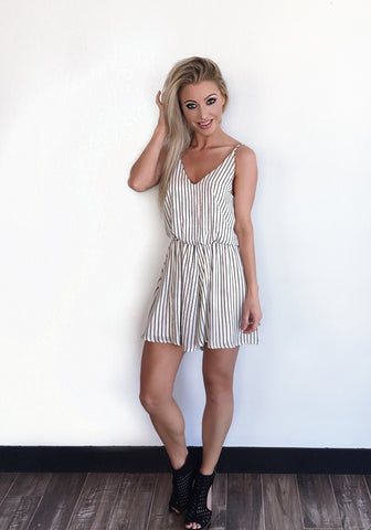 Vertical Stripe Romper - Klutch Trends