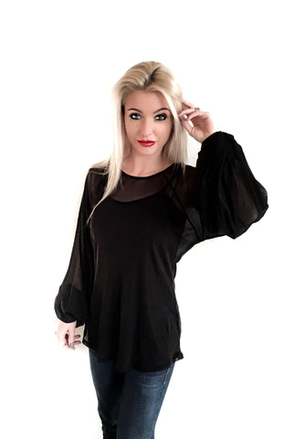 Black Chic Blouse - Klutch Trends