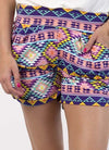 Multicolored Harem Shorts - Klutch Trends