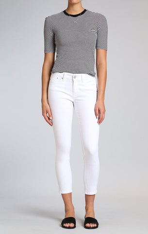 Adriana White Ankle Jeans - Klutch Trends