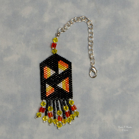 Beaded Candy Corn Scissor Fob