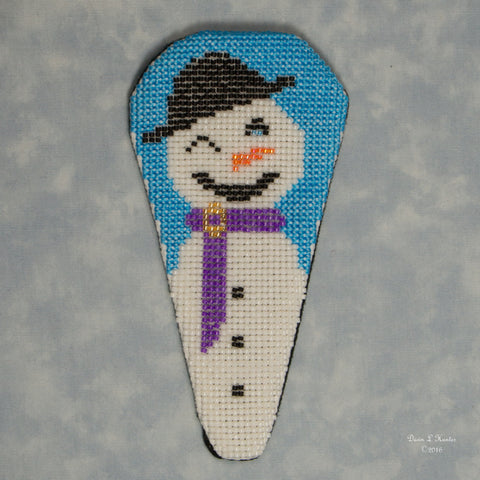 Beaded Winter Scene Scissor Case Kit