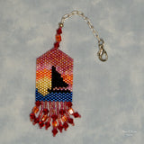 Beaded Sunset Scissor Fob Kit