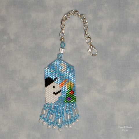 Beaded Winter Scene Scissor Fob Kit