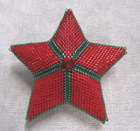 Beaded Stuffed Star Pattern