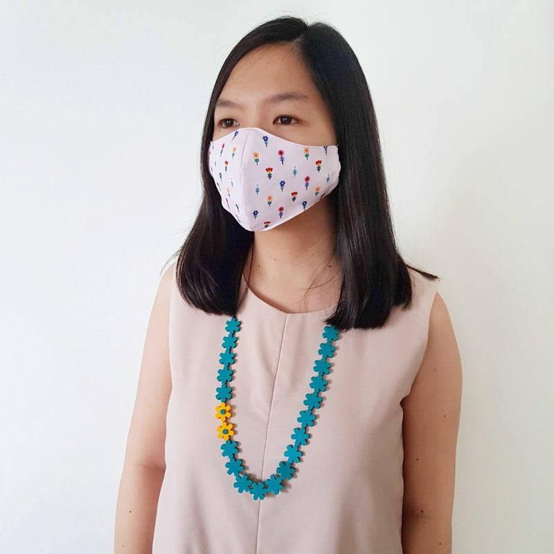 Flower Mask - Garland Green Necklace