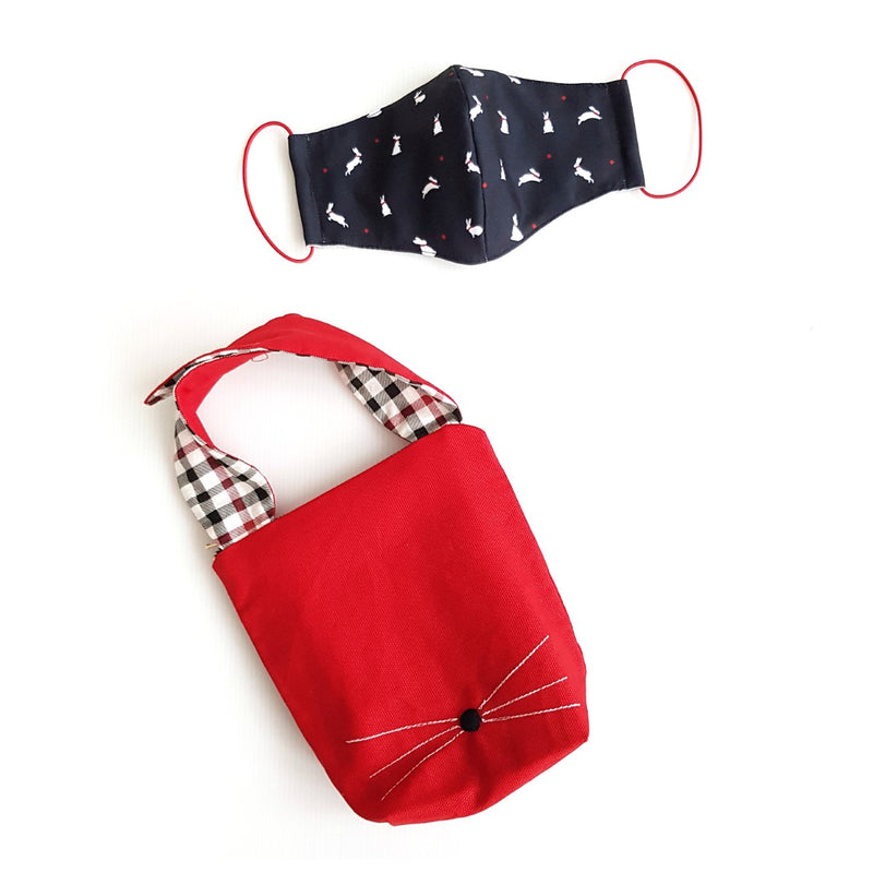 Rabbit Mask Bundle - Rabbit Pouch
