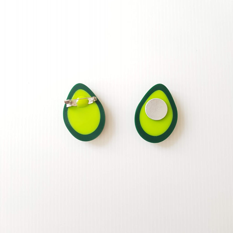 Avocado Brooch