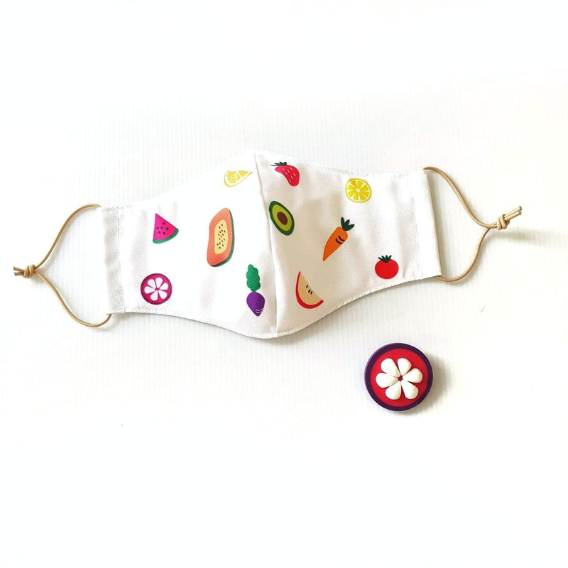 Fruit Mask Bundle - Mangosteen Brooch