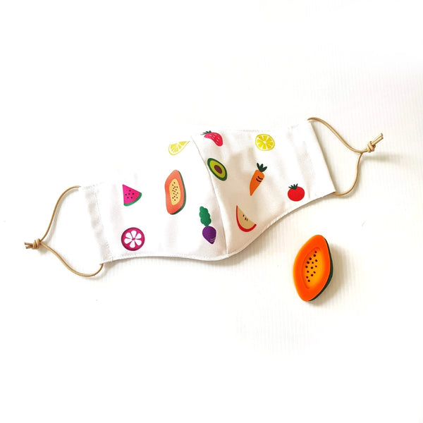 Fruit Mask Bundle - Papaya Brooch