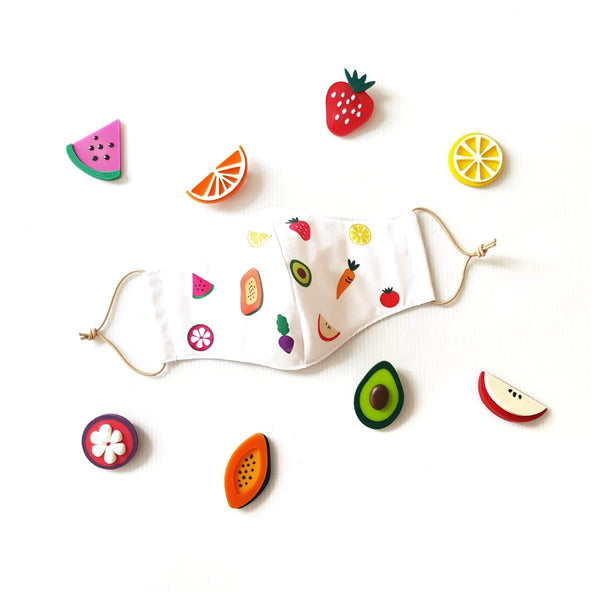 Fruit Mask Bundle - Fruit Platter (Brooches)