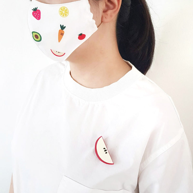 Fruit Mask Bundle - Apple Brooch