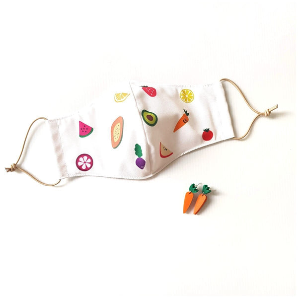 Fruit Mask Bundle - Carrot Earrings