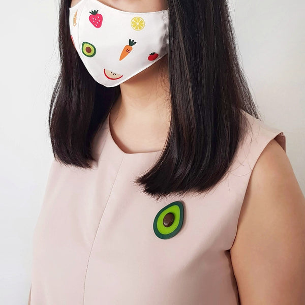 Fruit Mask Bundle - Avocado Brooch