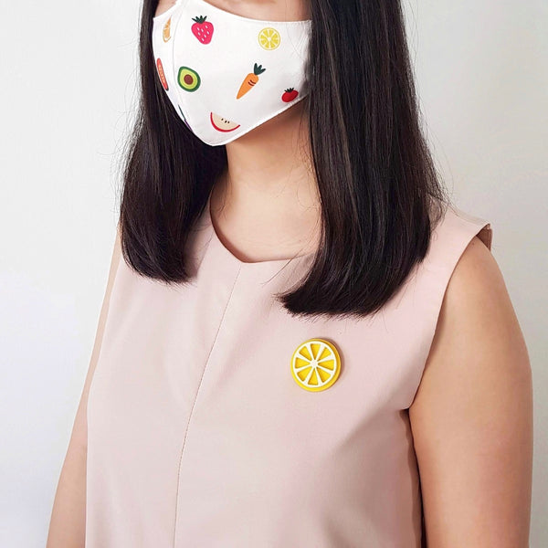 Fruit Mask Bundle - Lemon Brooch