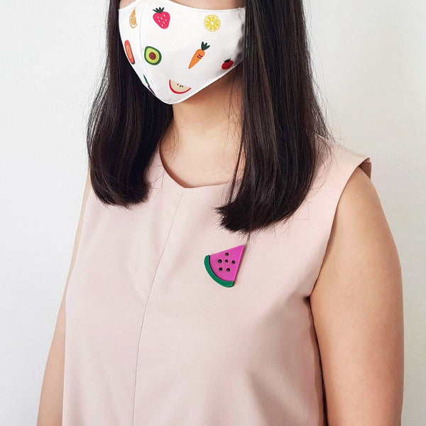 Fruit Mask Bundle - Moon Melon Brooch