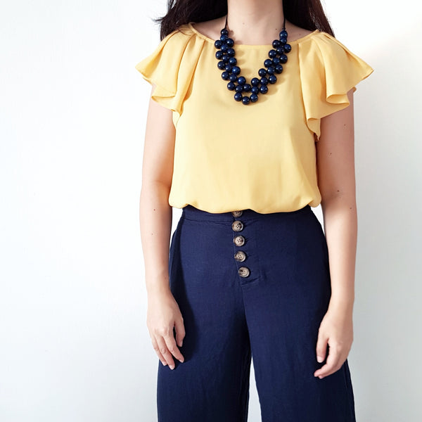 Valerie Navy Blue Beaded Necklace