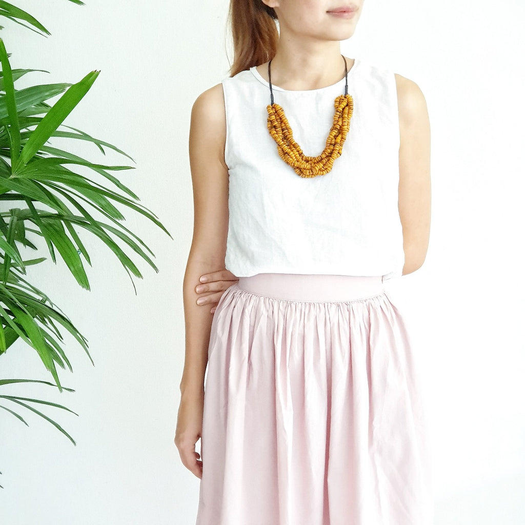 Bea Mustard Necklace